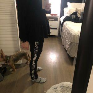 Black Zara long sleeved t w/ details